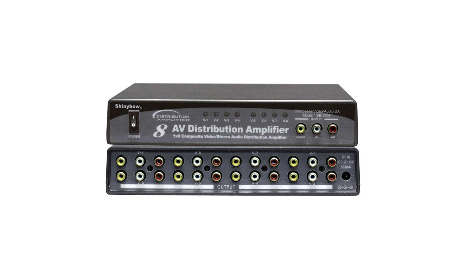 Sb 3708 Interstate Audio Video Distribution Amplifier Productinfo Specifications