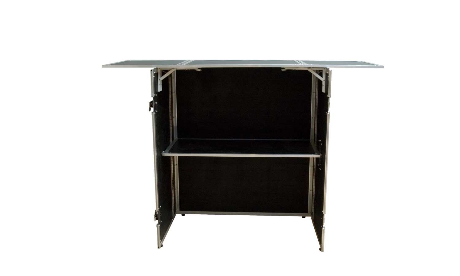 dj stand is a compact solid and foldable dj flightcase table. Black Bedroom Furniture Sets. Home Design Ideas